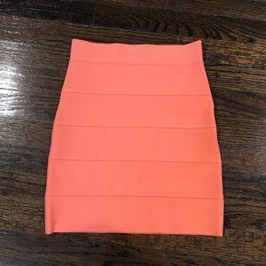 BCBGMAXAZRIA Coral Bandage Skirt
